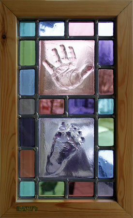 Stained Glass baby hand and foot