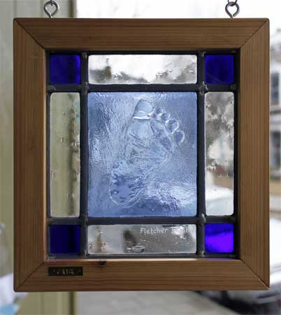 stained glass baby foot