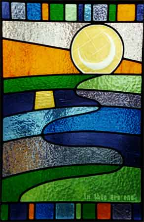 stained glass window sunmoon